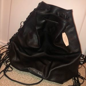Victoria's Secret leather fringe Backpack